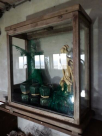 Oude Antiek Brocante Toonbank Tafel Vitrine