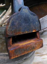 Oude Antiek Brocante Strijkijzer Kleermakersbout