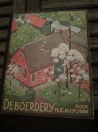 Oud Brocante Plaatjesboek Verkade De Boerderij