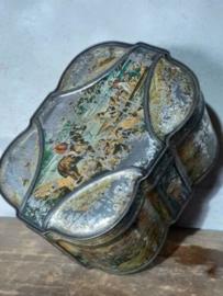 Oud Antiek Brocante Engels Blik Hump Huntley & Palmers Biscuits