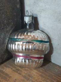 Oude Antieke  Vintage Russisch Kerstbal 4925 Mandje