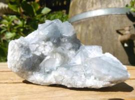 Cluster Geode Ruwe Celestien Blauw Hemelsteen - Edelstenen