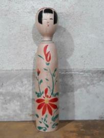Oude Vintage Japanse Kokeshi Houten Pop Doll Kijiyama