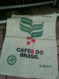 Jute Koffie Zak met opdruk Cafe du Brasil