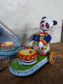 Oud Vintage Blikken Speelgoed - China - Drummende Panda MS565