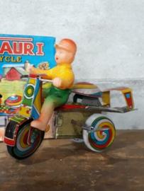 Oud Vintage Blikken Speelgoed - China - Jaguar Try Cycle