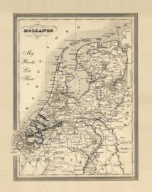 Kaart Ansichtkaart Nederland Landkaart - Netherlands