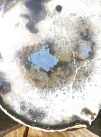 Agaatschijf Agaat Schijf Blauw Kristal - Edelstenen