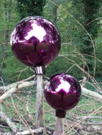 Glazen Heksenbal Heksenbol Paars 15 cm naar Oud Antiek Model