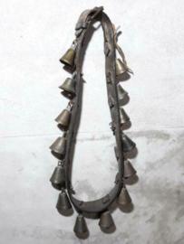 Oude Antieke Leren Bellenband Bronzen Belletjes Lapland Rendier