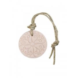 Puur Zeep Batik Hanger Schijf aan Touw Roze - Mille Fleurs