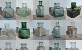 Antiek Vintage Inktpotjes & Inktflesjes