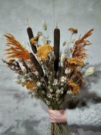 Gemengd Droogboeket Droogbloemen Naturel Typha Pluimen