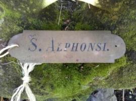 Oude Brocante Koperen Naamplaatje uit Schip S.Alphonsi
