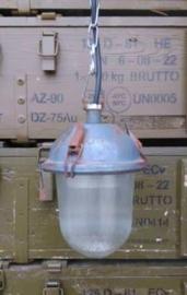 Oude Originele Industriele Fabriekslamp Lamp Bully Grijs