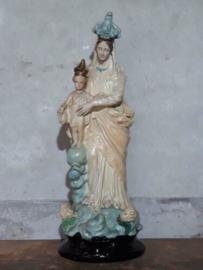 Oud Antieke Religieus Beeld - Notre Dame de Victoires - Maria