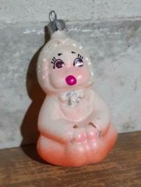 Oude Antieke Kerstbal 4680 Baby
