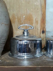 Oude Brocante Silverplate Hotelzilver Cloche Foodcover