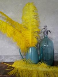 Struisvogelveer Yellow - Geel 60 cm
