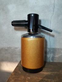 Oude Vintage Spuitfles Sifonfles Roest Oranje
