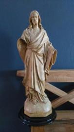 Oud Antiek Kerkbeeld Jezus Zandsteen Gerard Linssen