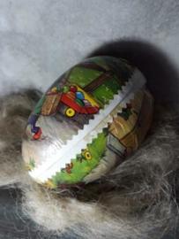 Oude Paasdecoratie Paasei Candy Container Ei