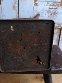 Oud Brocante Vintage Benzine Petroleum Blik Purfina