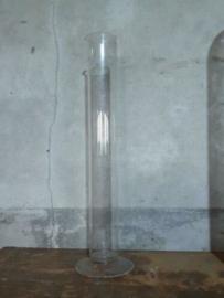 Oud Vintage Laboratorium Hoge Gegraveerde Maatcylinder