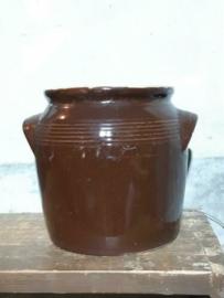 Oude Brocante Franse Grespot Pot Aardewerk Voorraadpot