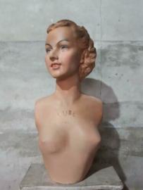 Oude Franse Buste Champs Elysees Lube Paris Mannequin Lingerie