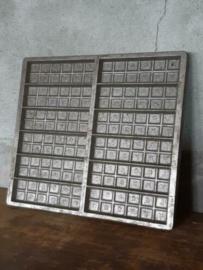 Oude Brocante Vertinde Metalen Matrijs Chocolade Mal Locara