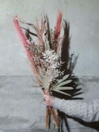 Gemengd Droogboeket Droogbloemen XL Pampas Roze Naturel