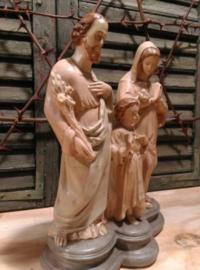 Oude Brocante Beeld Heilige Familie Maria Jezus Jozef