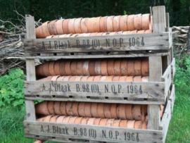 Oude Antieke Terracotta Potjes Stekpotjes Azalea Kwekerij 5st.