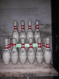Oude Vintage USA Bowling Pins Bowlen Kegel