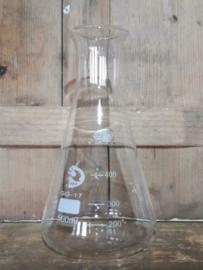 Oud Gerecyclede Bloemenvaas Glas Vaas Erlenmeyer