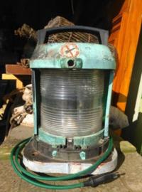 Oude Industriele Scheepslamp Toplicht Navigatielicht