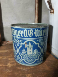 Oud Antiek Brocante Blik Nurnberger Lebkuchen