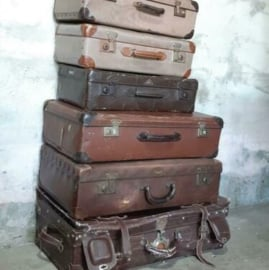 Inspiratie Oude Antiek Vintage Koffers