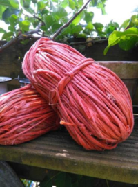 Oude Brocante Bol Touw Oranje van Hooipakjes