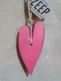 Puur Zeep Stoer Hart XL aan Touw Roze - Rozen