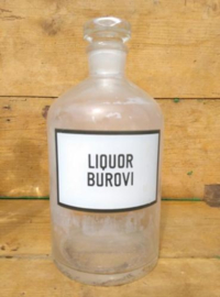 Oude Brocante Roemeense Apothekersfles Liquor Burovi