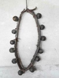 Oude Antieke Leren Bellenband Bronzen Belletjes