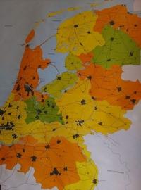 Oude Brocante Schoolplaat Nederland Industrieel