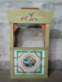 Oude Vintage Poppenkast Kast Theater