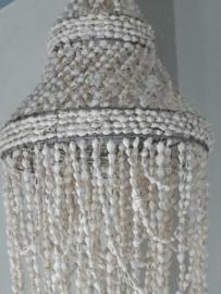 Vintage Bohemian Schelpen Kroonluchter - Schelpenhanger Schelpenlamp XL