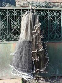Oud Authentiek Vissersnet Visnet Zwart Camouflage