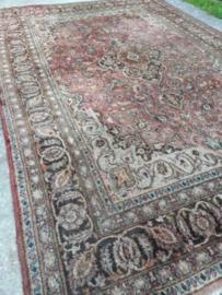 Oud Vintage Perzisch Tapijt Vloerkleed - Meshed Iran