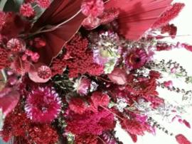 Gedroogde Bos Droogbloemen Roze