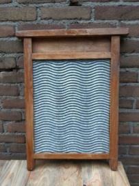 Oude Brocante Vintage Zinken Wasbord Roemenie